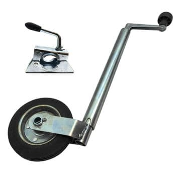 HEAVY DUTY 35mm JOCKEY WHEEL with CLAMP caravan trailer container plant